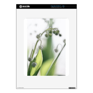 Lily of the Valley Flower Repetition Sketch iPad Decal