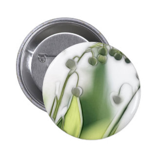 Lily of the Valley Flower Repetition Sketch Pinback Button