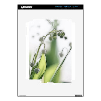 Lily of the Valley Flower Repetition Sketch Skins For iPad 3