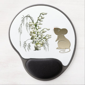 Lily of the Valley Flowers and Mouse Gel Mousepad