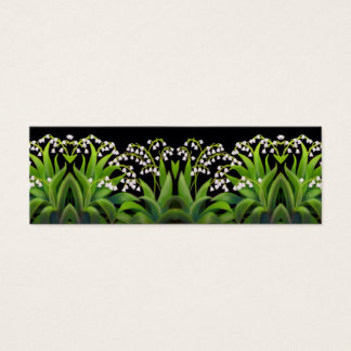 Lily of the Valley Flowers Bookmark Mini Business Card