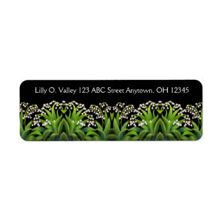 Lily of the Valley Flowers Label