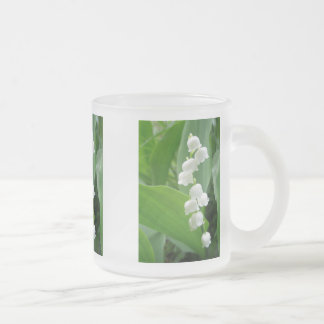 Lily of the Valley Flowers 10 Oz Frosted Glass Coffee Mug