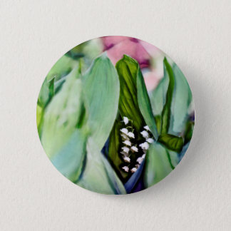 Lily of the Valley Flowers Pinback Button