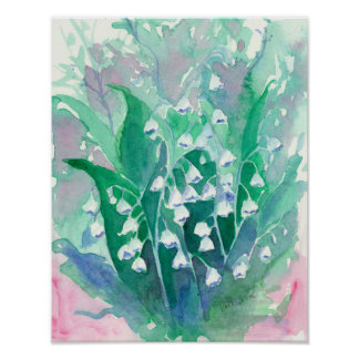 Lily of the Valley Flowers Poster