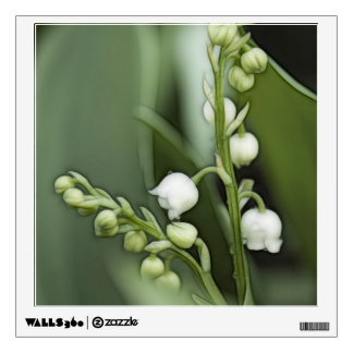 Lily of the Valley Flowers Sketch Wall Sticker