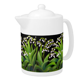 Lily of the Valley Flowers Teapots