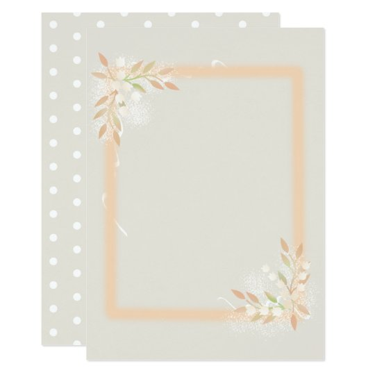 Lily of the Valley Framed Paper Card