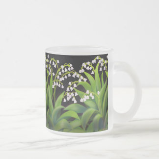 Lily of the Valley Frosted Glass Mug