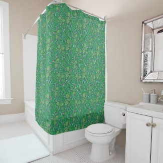 Lily of the Valley Green Garden Shower Curtain