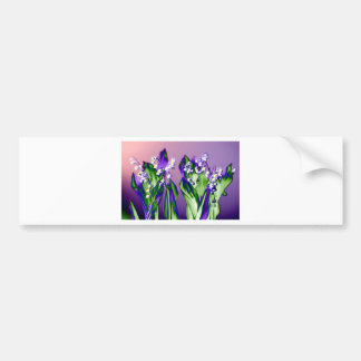 Lily of the Valley in Lavender Bumper Sticker