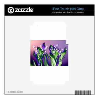Lily of the Valley in Lavender iPod Touch 4G Decal