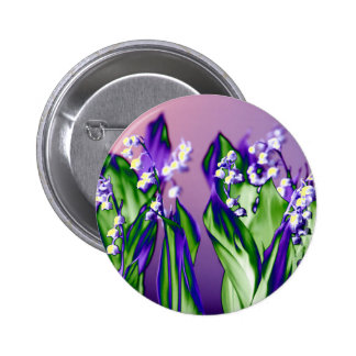 Lily of the Valley in Lavender Pinback Button