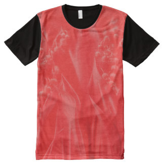 Lily of the Valley in Red All-Over-Print T-Shirt
