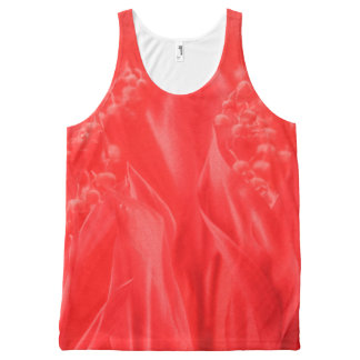 Lily of the Valley in Red All-Over-Print Tank Top