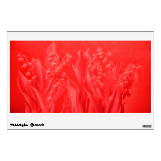 Lily of the Valley in Red Wall Sticker