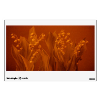 Lily of the Valley in Rust Wall Sticker