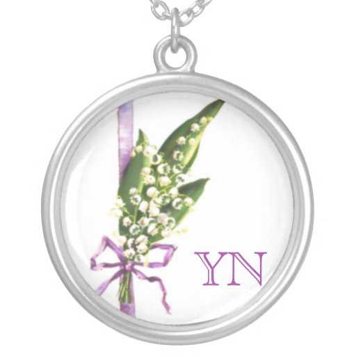 Lily of the Valley monogram necklace