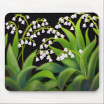 "Lily of the Valley Mousepad<br><div class=""desc"">A painting of lilies of the valley spring flowers printed on a quality mousepad for spring floral art fans.</div>"