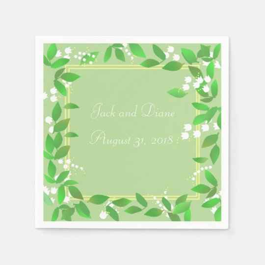 Lily of the Valley Napkins