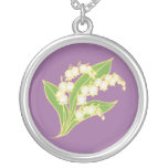 Lily-of-the-Valley Necklace May Birth Month Flower