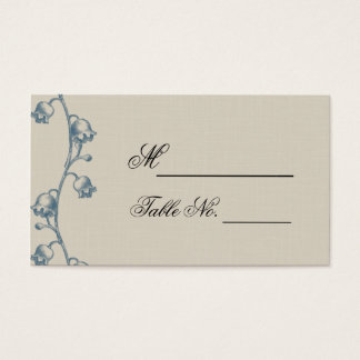 Lily of the Valley on Ecru Line Wedding Place Card
