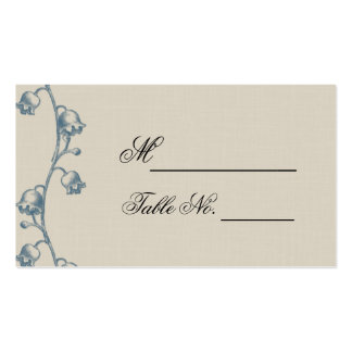Lily of the Valley on Ecru Line Wedding Place Card Double-Sided Standard Business Cards (Pack Of 100)