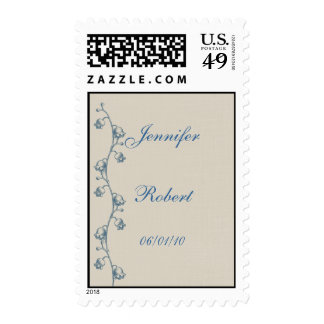 Lily of the Valley on Ecru Linen Postage