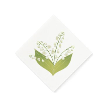 weddingbouquet Lily of the valley paper napkin