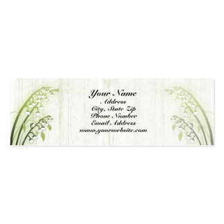 Lily of the Valley Profile Card Double-Sided Mini Business Cards (Pack Of 20)