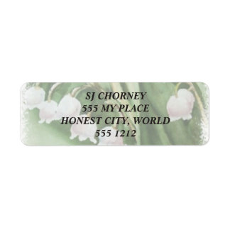 LILY OF THE VALLEY RETURN ADDRESS LABELS