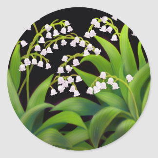 Lily of the Valley Round Stickers