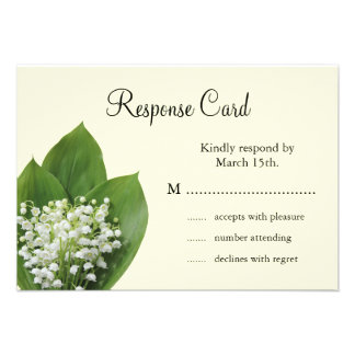 Lily of the Valley RSVP (ivory) Custom Announcement