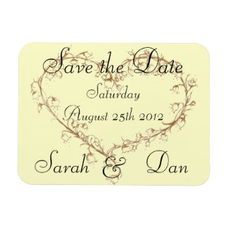 lily of the valley save the date magnet