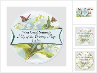 Lily of the Valley Soap Labels