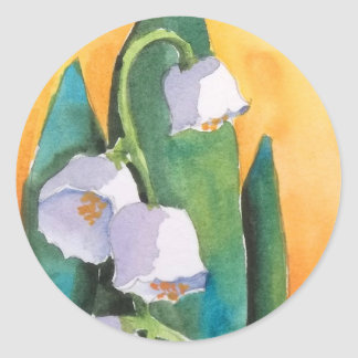 Lily of the Valley Sunrise Classic Round Sticker