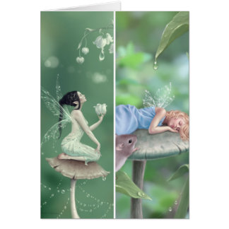 Lily of the Valley & Sweet Dreams Bookmark Card Greeting Cards