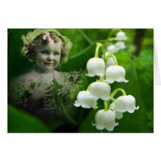 Lily of the Valley Sweet White Bell Flower Bouquet Greeting Card