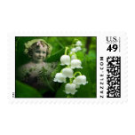 Lily of the Valley Sweet White Bell Flower Bouquet Postage Stamps