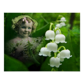 Lily of the Valley Sweet White Bell Flower Bouquet Poster