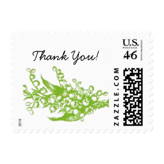 Lily of the Valley Thank You Stamp