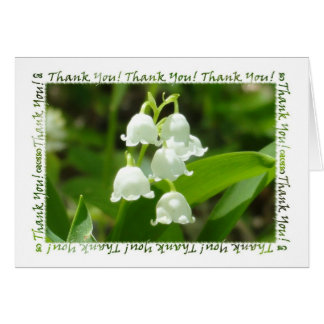 Lily of the Valley Thank You Stationery Note Card