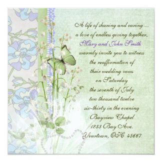 Lily of the Valley Vow Renewal 5.25x5.25 Square Paper Invitation Card