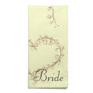 lily of the valley wedding cloth napkin