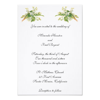 Lily of the Valley Wedding Invitation