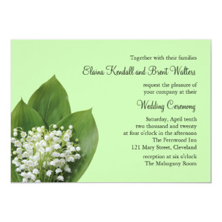 Lily of the Valley Wedding Invitation (green)