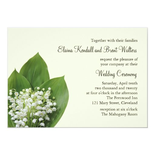 lily of the valley wedding invitation ivory zazzle With wedding invitations with lily of the valley