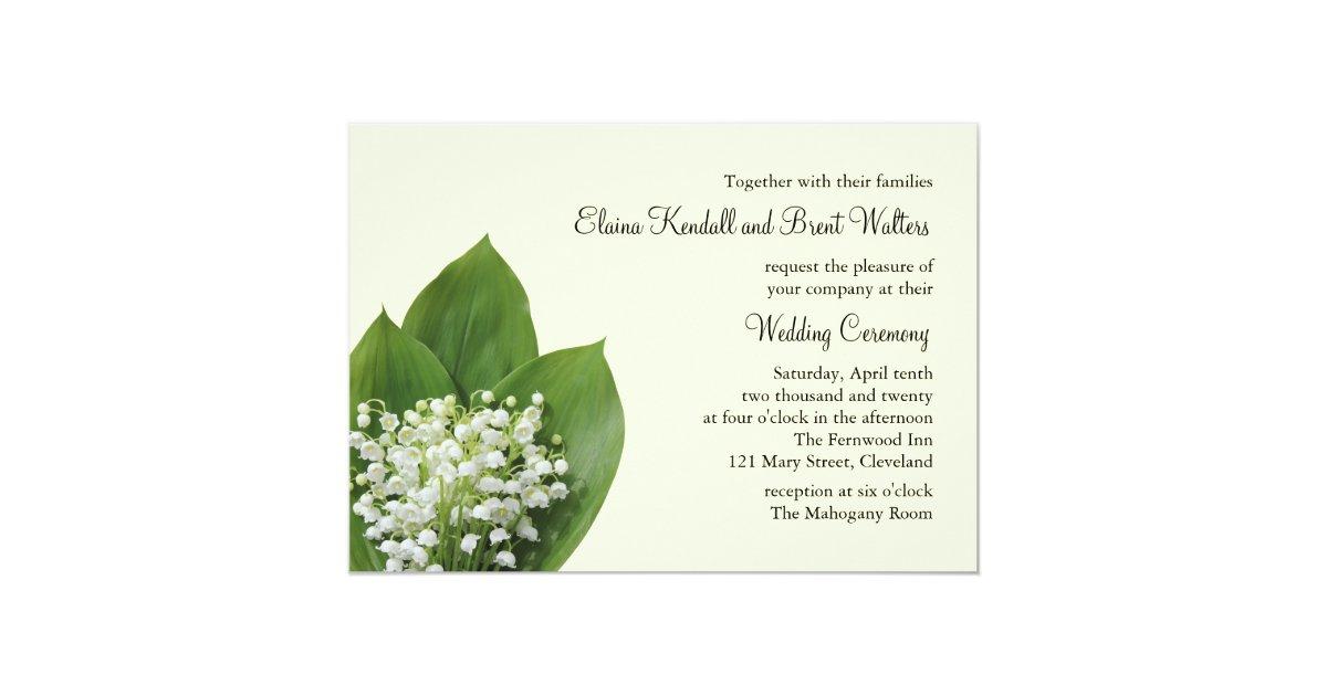 Lily of the Valley Wedding Invitation (ivory) | Zazzle.com