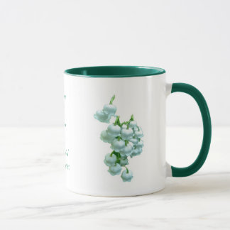 Lily of the Valley Wedding Mug to Personalize