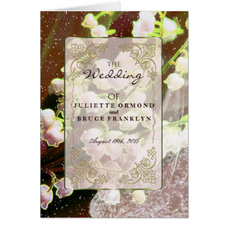 Lily Of The Valley - Wedding Program Card